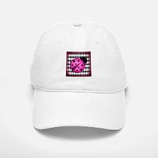 Pink Ladybug on Diamonds Baseball Baseball Baseball Cap