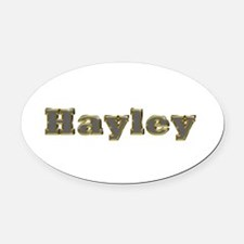 Hayley Gold Diamond Bling Oval Car Magnet