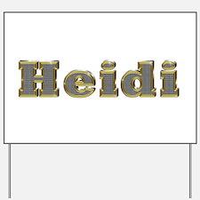 Heidi Gold Diamond Bling Yard Sign