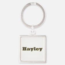 Hayley Gold Diamond Bling Square Keychain