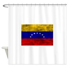 Distressed Venezuela Flag Shower Curtain