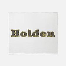 Holden Gold Diamond Bling Throw Blanket