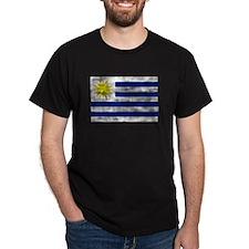 Distressed Uruguay Flag T-Shirt