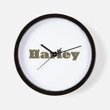 Harley Gold Diamond Bling Wall Clock