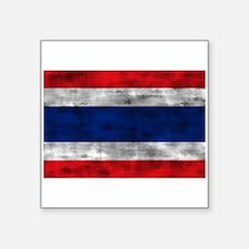 Distressed Thailand Flag Sticker