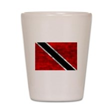 Distressed Trinidad and Tobago Flag Shot Glass