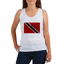 Distressed Trinidad and Tobago Flag Tank Top
