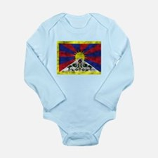 Distressed Tibet Flag Body Suit