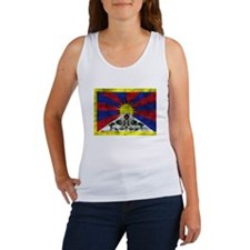 Distressed Tibet Flag Tank Top