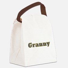 Granny Gold Diamond Bling Canvas Lunch Bag