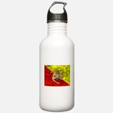 Distressed Sicily Flag Water Bottle