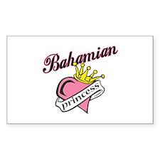 Bahamian Princess Rectangle Decal