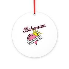 Bahamian Princess Ornament (Round)