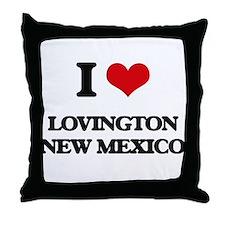 I love Lovington New Mexico Throw Pillow