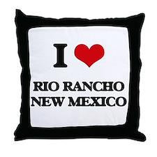 I love Rio Rancho New Mexico Throw Pillow