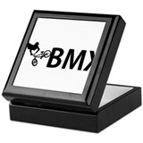 Bmx biker Square Keepsake Boxes
