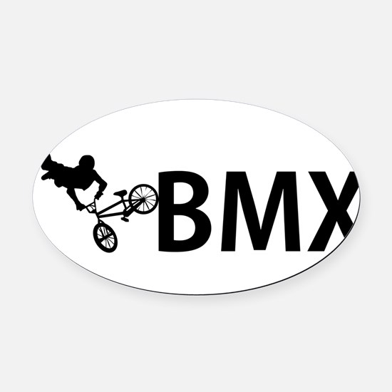 biker Oval Car Magnet