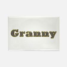 Granny Gold Diamond Bling Rectangle Magnet