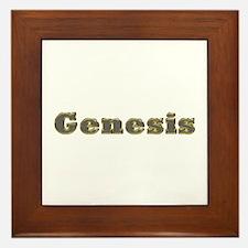 Genesis Gold Diamond Bling Framed Tile