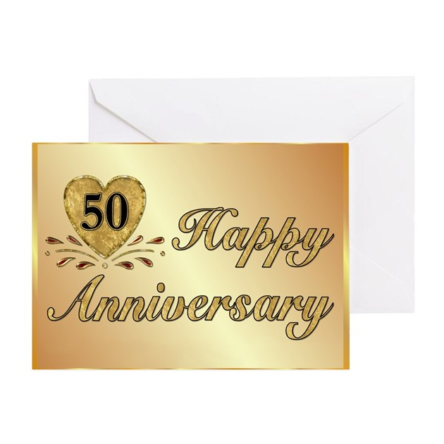 Th golden anniversary greeting card by spicetree