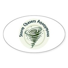 Storm Chasers Anonymous Oval Decal
