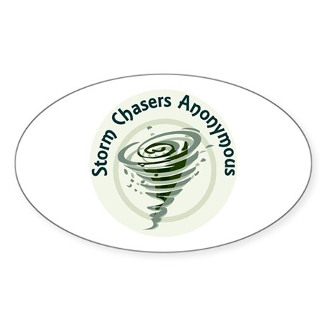 Storm Chasers Anonymous Oval Sticker