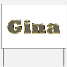 Gina Gold Diamond Bling Yard Sign