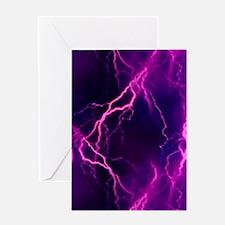 Pink Lightning Greeting Card