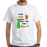 Beer disappear Mens White T-shirts