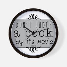 Book vs Movie Wall Clock