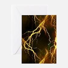 Gold Lightning Greeting Card