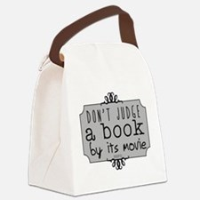 Book vs Movie Canvas Lunch Bag