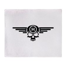 IBOHP logo black Throw Blanket