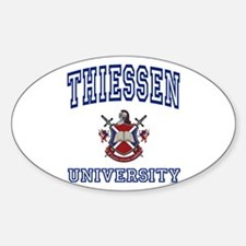 THIESSEN University Oval Decal