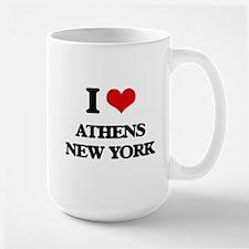 I love Athens New York Mugs