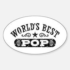 World's Best Pop Sticker (Oval)