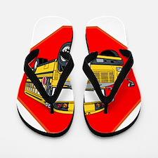 School Bus Driver Flip Flops