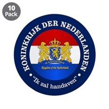 """Kingdom of the Netherlands 3.5"""" Button (10 pack)"""