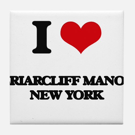 I love Briarcliff Manor New York Tile Coaster