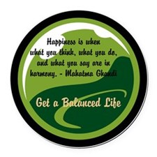 Get a Balanced Life month Round Car Magnet
