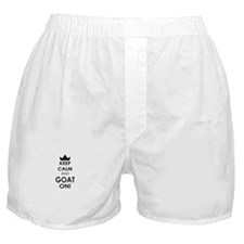 Keep Calm and Goat on Boxer Shorts