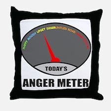 ANGER METER Throw Pillow