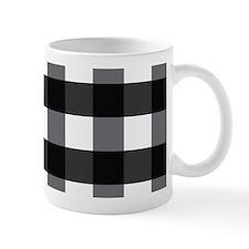 Gingham Checks black white Mug