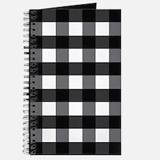 Gingham Checks black white Journal