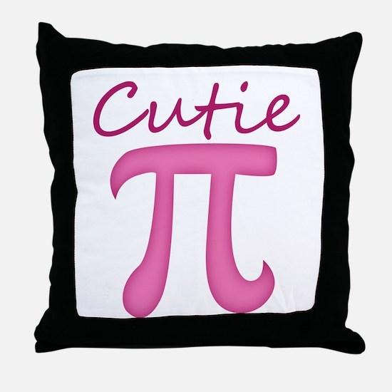 Cutie Pi Throw Pillow