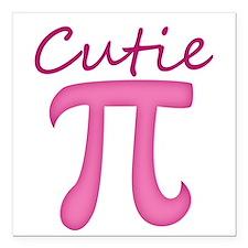 "Cutie Pi Square Car Magnet 3"" x 3"""