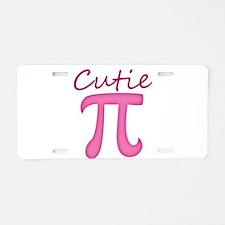 Cutie Pi Aluminum License Plate