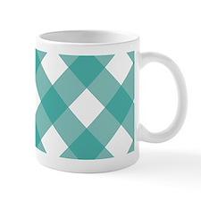 Gingham Checks Teal Mug