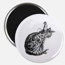 Vintage Cat and Mouse Magnet