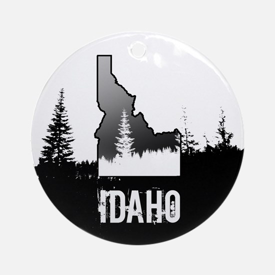 Idaho: Black and White Ornament (Round)